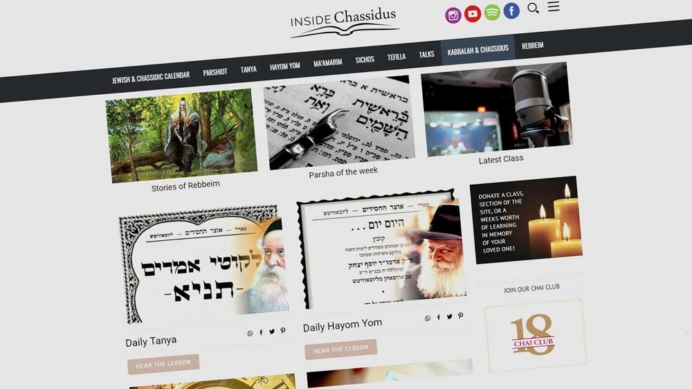 Inside Chassidus Website Screenshot